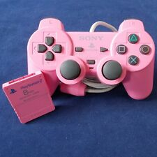 PS2 - Playstation ► Sony Controller Limited Edition Rosa + 8 MB Memory Card ◄