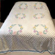Chenille Bedspread Vintage Cutter