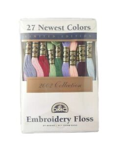 DMC 2002 Limited Edition Embroidery Floss - 27 Skeins Newest Colors - NIP NOS
