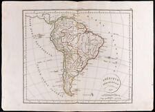 1830 - Carte ancienne Amérique méridionale Delamarche Antique Map South America