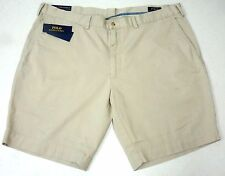 Polo Ralph Lauren Multi Big Pony Flat Front Chino Prep Shorts Light Blue