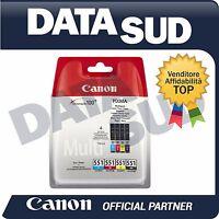 Canon MultiPack Inkjet Originale CLI-551 per Pixma iP7250,MG5450,MG5550,MG5650..
