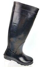 """Lands End Black Rubber Rain Boots 15"""" Women's 6 B"""