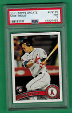 2011 TOPPS UPDATE MIKE TROUT ROOKIE CARD RC PSA 7 #US175 ANGELS