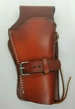 Western Style Revolver Holster - Genuine Leather - Hand Made - Open Bottom - HL1