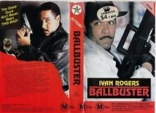 BALLBUSTER - IVAN ROGERS - ACTION  *RARE VHS TAPE* 1990