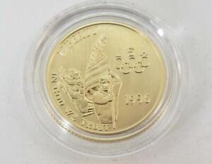 1996 W US $5 Gold Olympic Comm BU Flag Bearer mnt.9174 orig capsule L10421