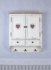 Wall Cabinet Vintage Hanging Wardrobe White Shabby Chic Kitchen Cupboard Wood