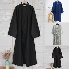 Uomo Giapponese Kimono Yukata Pigiama Accappatoio Notte Cotone Vestaglia