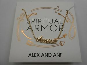 """Alex and Ani Amour Adjustable 18"""" Necklace 14kt Rose Gold"""