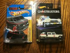 Hot Wheels A Team Gmc Van & Ghostbusters Ecto 1 Lot Of 2 In Protect Packs New