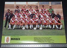 CLIPPING POSTER FOOTBALL 1986-1987 AS MONACO ASM ROCHER LOUIS II