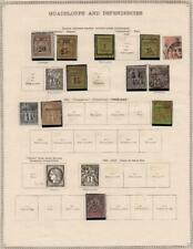 GUADELOUPE: 1884-1891 Examples - Ex-Old Time Collection - Album Page (35772)