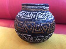 Wounaan Rainforest  Basket HAND WOVEN Small TIGHT Fine CLASSIC Geometric DESIGN