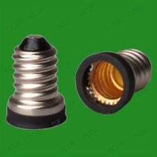 40x Small Screw SES E14 - Candelabra CES E12 Light Bulb Adaptor Converter Holder