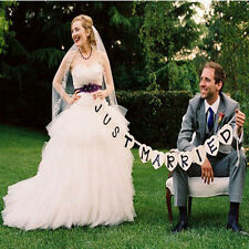 DIY Decor Just Married Wedding Car Cling Decal Sticker Window banner Crafts