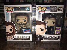 Funko Pop DC Universe: Arthur Curry (NYCC 2018) & Bruce Wayne (SDCC 2017)