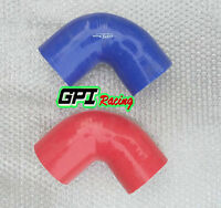 Silicone 90 degree Elbow hose 3.5 inch 89mm Turbo INTERCOOLER PIPE RED