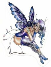 SEXY Violet PURPLE CORSET Star FAIRY PIXIE FAE Rare STICKER/VINYL DECAL