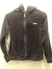 Fila Girls Full Zip Up Hoodie Purple Size Small (14) US Seller Free Shipping