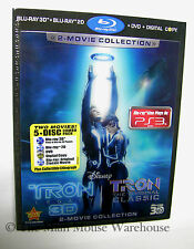 Disney TRON 2 Movie 3D Blu-ray DVD Digital Copy Combo with Lenticular Slipcover