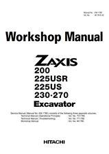 More details for hitachi zaxis 200 225usr 225us 230 270 excavator workshop manual reprinted