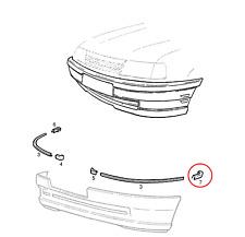 GENUINE VAUXHALL VECTRA A / CAVALIER FRONT LEFT BUMPER MOULDINGS CAP