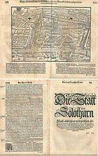 1588 SOLOTHURN Cosmographia universal Sebastian Münster Munster Soletta Soleure