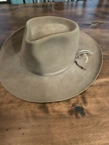 Akubra Snowy River Hat Made In Australia Pure Fur Felt Tan Size 60