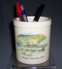 Zanesville Ohio Y-Bridge Pencil Crock
