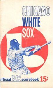 1962 CHICAGO WHITE SOX VS DETROIT TIGERS COMISKEY PARK SCOREBOOK MLB BASEBALL