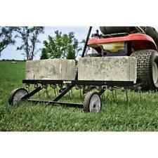 Lawn Dethatcher Rake Tow Behind Tractor Mower Heavy Duty Scarifier 40 in Usa New