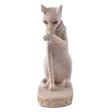 Sandstone Egyptian Mau Cat Statue Handmade Sculpture Feng Shui Vintage Figurine