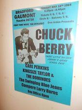A3 POSTER CHUCK BERRY, CARL PERKINS, GAUMONT, BRADFORD 1964