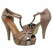 """NEW Women's Madden Girl """"Hope"""" - WAS $60! - size 10 Taupe/pewter w/ 4.5"""" heel"""