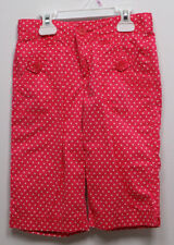 Gap Kids Girls Pink White Polka Dot Capri Pants Leggings Size 10 Slim Vguc