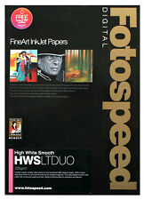 Fotospeed High White Smooth LITE DUO 225gsm A4 25 sheets