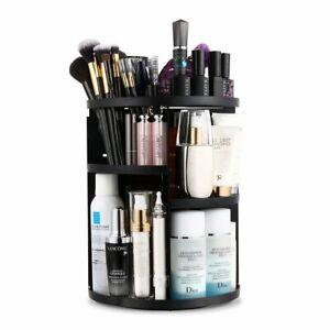 Makeup Organizer Rotating Vanity Organizer and Storage Box 360°