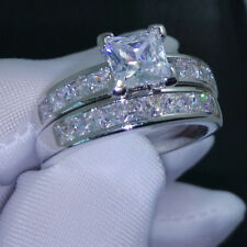 Cut Diamond Engagement Ring For Women's 3.00 Ct V Prong Setting Princess