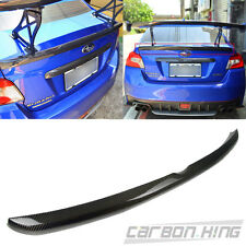 Carbon For SUBARU WRX STI 4th Sedan OE Look Trunk Boot Spoiler 15-17