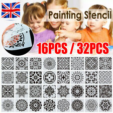 16/32Pack Mandala Drawing Dot Painting Templates Stencils For DIY Rock Art Decor