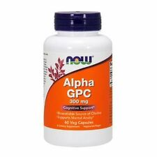Alpha GPC, 300mg x 60VCaps, NOW Foods, 24Hr Versand