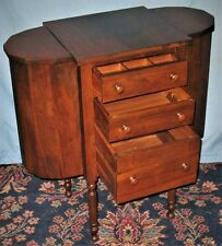 VINTAGE MARTHA WASHINGTON SEWING STAND END NIGHT TABLE 3-DRAWER MAHOGANY