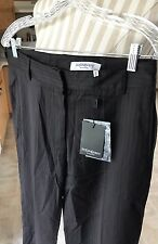 NWT Yves Saint Laurent Women's Black Pinstripe Dress Pants Size 8 40 Rive Gauche