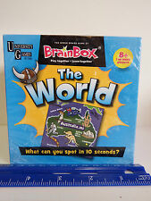 University Games BRAIN BOX The Green Board Game THE WORLD A 10 Minute Challenge