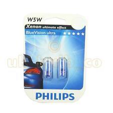 12V 5W PHILIPS SIDE LIGHT BULBS FOR Fiat Punto Evo BLUE 501's FRONT (W5W T10)