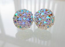 Sparkly Ab Crystal Diamante Stud Rhinestone Earrings