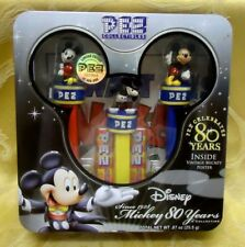 DISNEY MICKEY MOUSE 80 YEARS PEZ COLLECTION NEW IN ORIGINAL TIN w/POSTER 2007