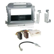 KIA SPORTAGE 3~10 1-DIN radio de voiture Set d'installation RADIOBLENDE gris