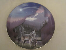 Wolf Collector Plate Evening'S Call Kevin Daniel Profiles Of The Pack
